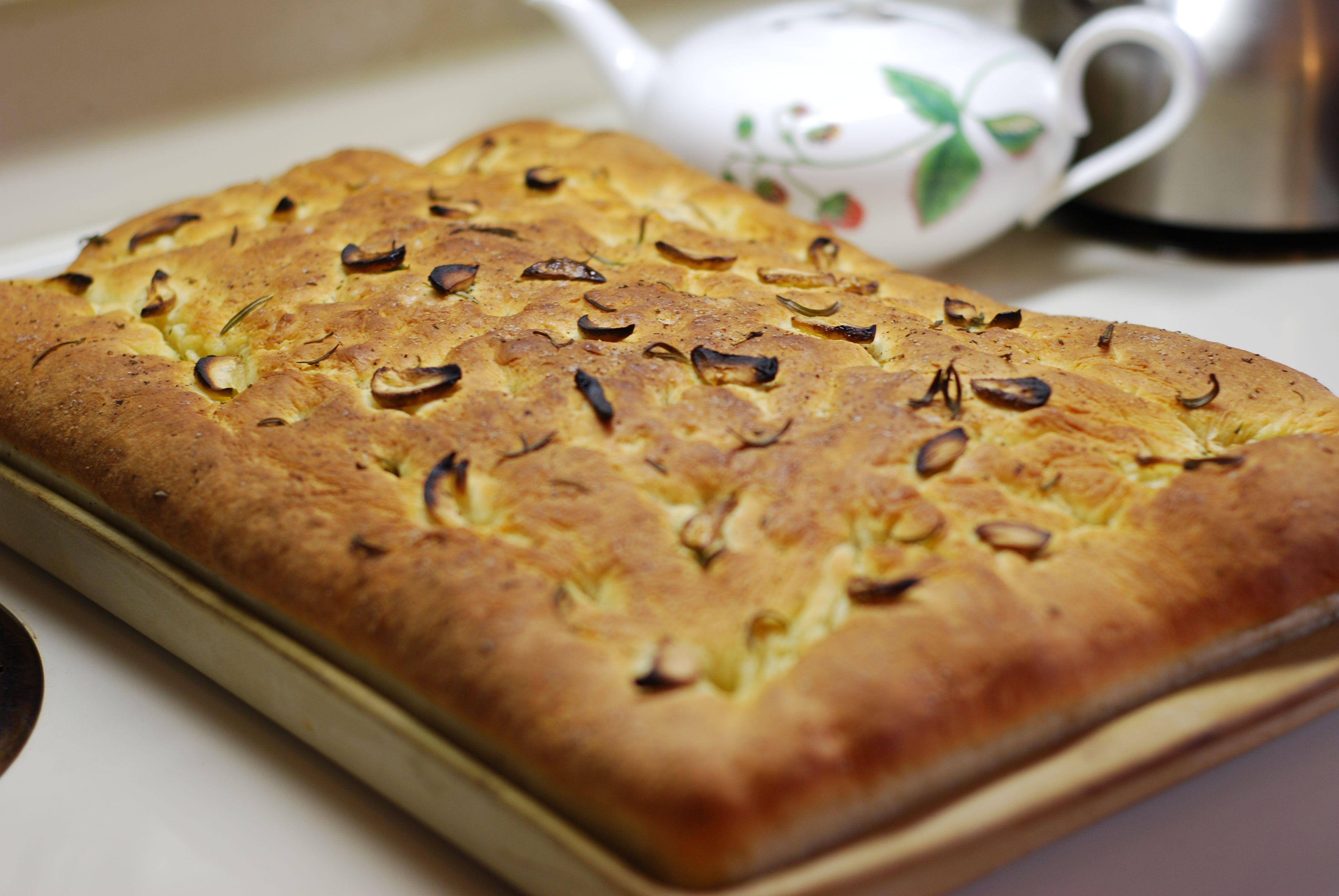 Rosemary and Garlic Focaccia | Hestina's Kardia