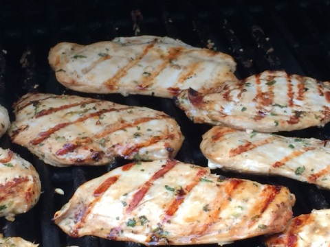 lemongrass-cilantro-lime-chicken-grilling